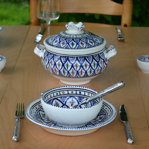 Service à soupe Jileni bleu - 12 pers