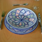 Assiette creuse Medina color - D 24 cm