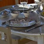 Lot de 6 assiettes plates Marocain noir - D 28 cm