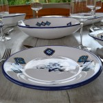 Lot de 6 assiettes plates Sahel bleu - D 24 cm
