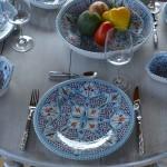 Lot de 6 assiettes à entrée ou dessert Marocain turquoise - D 20 cm