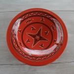Plat Tebsi Tatoué rouge - D 33 cm