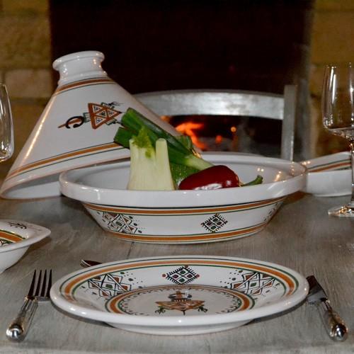 Assiette plate Sahel beige - D 28 cm