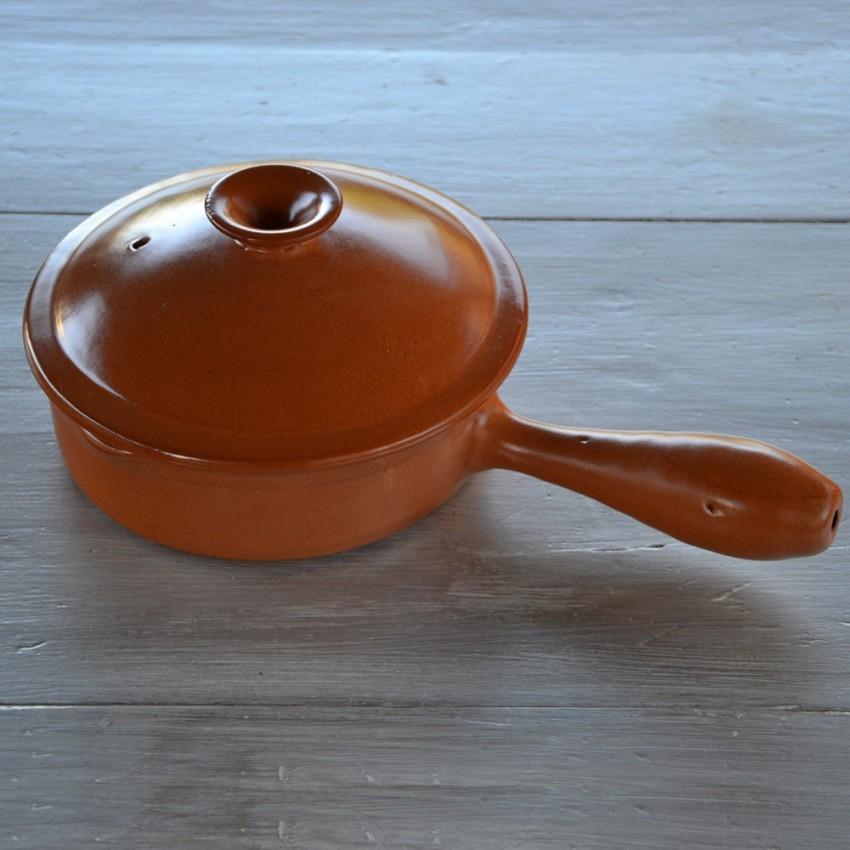 Poêlon en terre cuite - D 20 cm