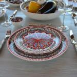 Service à dessert Bakir rouge - 8 pers