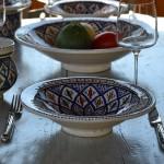 Service à couscous assiettes Tebsi Bakir bleu - 12 pers