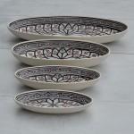 Plat ovale Bakir gris - L 20 cm