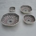 Plat octogonal Bakir gris - L 20 cm