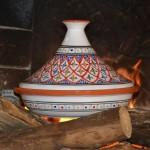 Tajine Bakir rouge - Diam 31 cm traditionnel