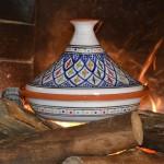 Tajine Bakir bleu - D 31 cm traditionnel