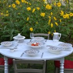 Service à couscous assiettes Tebsis Bakir gris - 8 pers