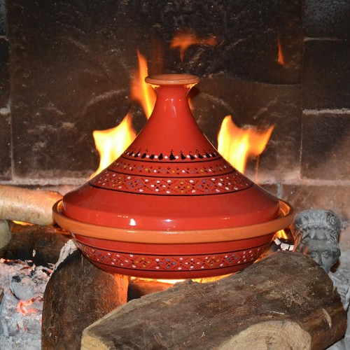 Tajine Marrakech Rouge - D 31 cm traditionnel