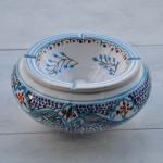Cendrier anti-fumée Marocain Turquoise - Très Grand Modèle