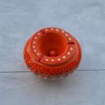 Cendrier anti fumée Marrakech Orange - Moyen modèle