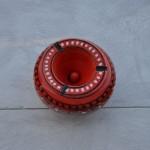 Cendrier anti fumée Marrakech rouge - Moyen modèle
