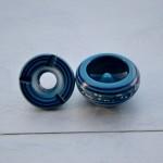 Cendrier anti fumée Tatoué bleu clair - Mini modèle