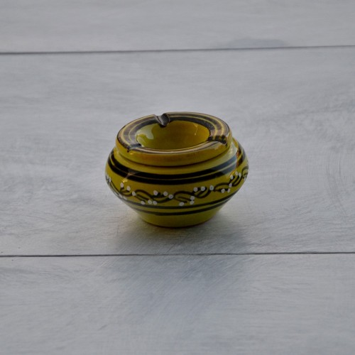 Cendrier anti fumée Tatoué vert anis - Mini modèle