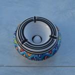 Cendrier anti fumée Bakir Royal Turquoise - Moyen modèle
