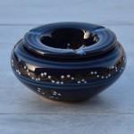 Cendrier marocain Tatoué bleu nuit - Moyen modèle