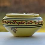 Cendrier marocain Tatoué jaune citron - Moyen modèle