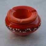 Cendrier petit modèle anti fumée Tatoué orange - D 12 cm