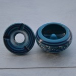 Cendrier petit modèle anti fumée Tatoué bleu - D 10 cm
