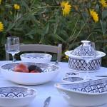 Service à couscous assiettes jattes Bakir gris - 8 pers