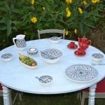 Service à salade de fruits Bakir gris - 6 pers