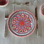 Assiette à entrée ou dessert Bakir rouge - D 20 cm