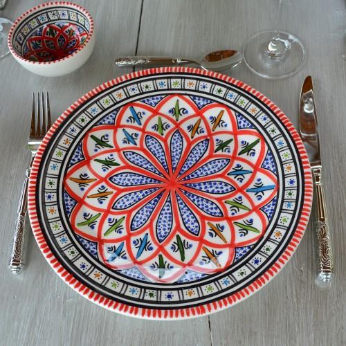 Assiette plate Bakir rouge - Diam 28 cm