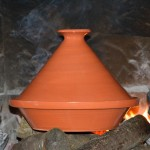 Tajine en terre cuite traditionnel - D 27 cm