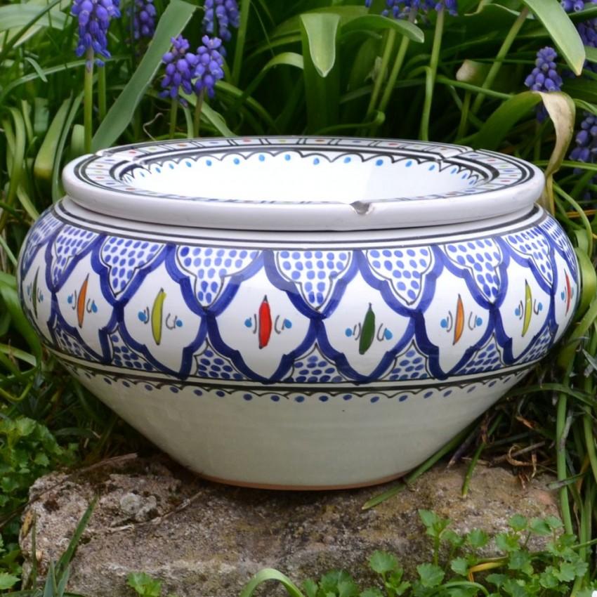 Cendrier marocain Bakir Bleu - Très Grand modèle