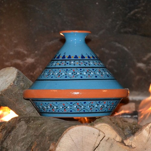 Tajine individuel Marrakech Bleu - D 23 cm traditionnel