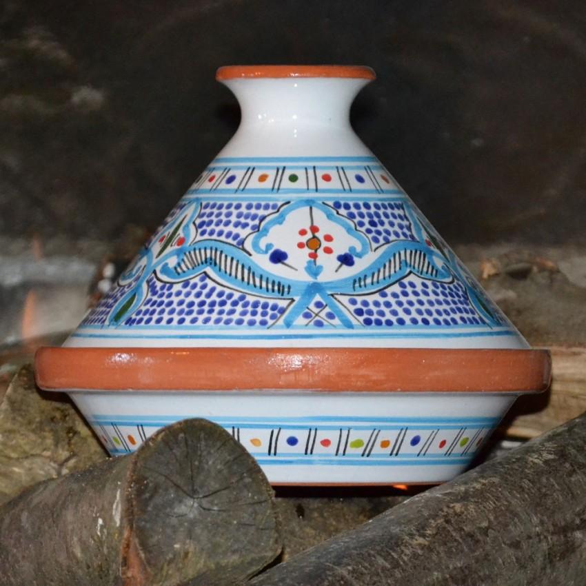 Tajine individuel Marocain Turquoise - D 23 cm
