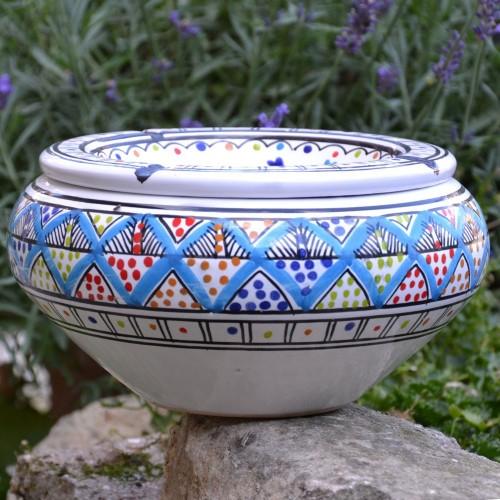 Cendrier tunisien Bakir Royal Fleur - Grand modèle