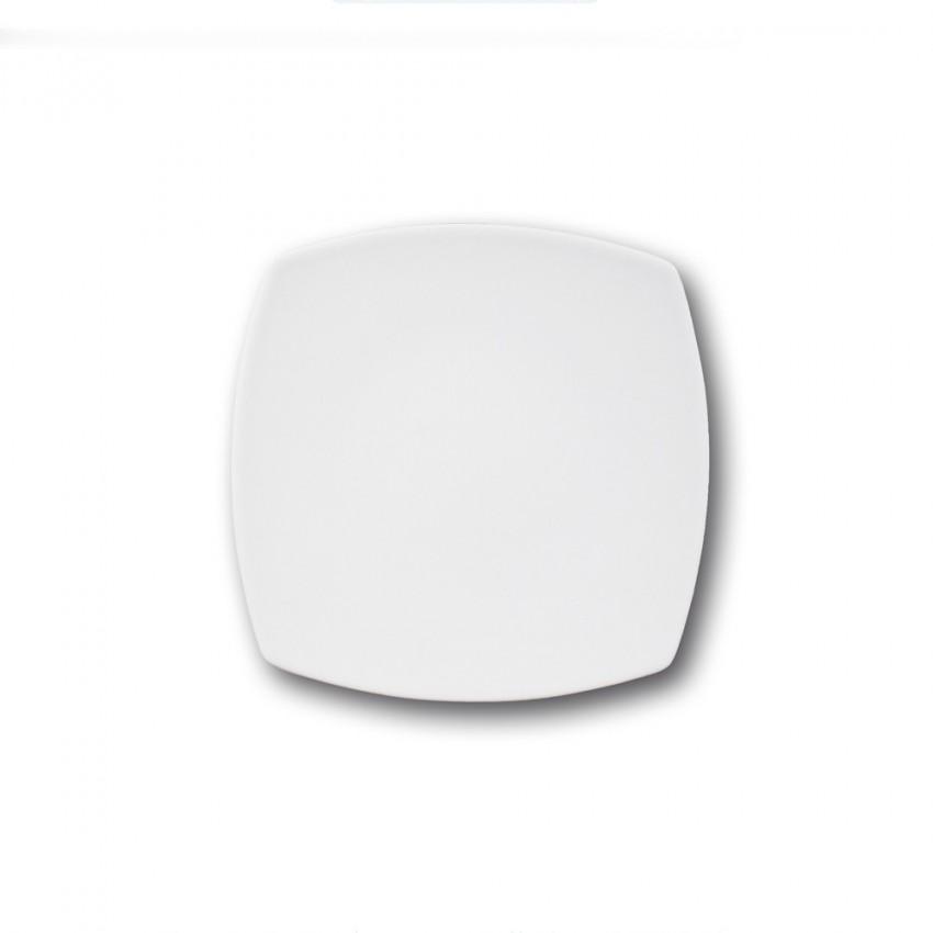 Assiette à dessert en porcelaine blanche - L 21 cm