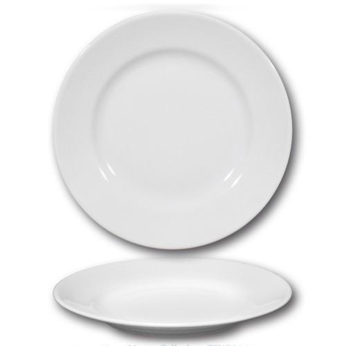 Assiette plate en porcelaine blanche - D 26 cm