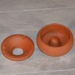 Lot de 3 Cendriers en terre cuite - Moyen modèle