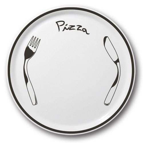 Assiette à pizza Noire - D 31 cm - Napoli
