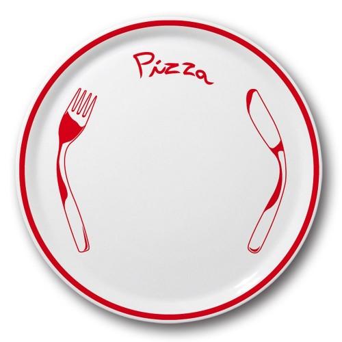 Lot 6 assiette à pizza Rouge - D 31 cm - Napoli