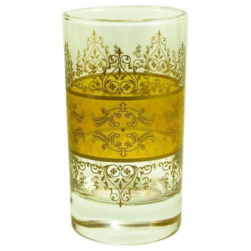 Lot de 6 verres à thé Shéhérazade Jaune