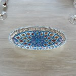 Plat ovale Bakir turquoise - L 20 cm