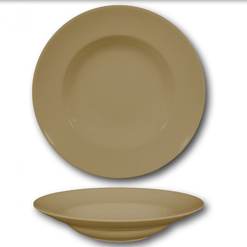 Lot de 6 assiettes à pâtes Marron - D 26 cm - Napoli