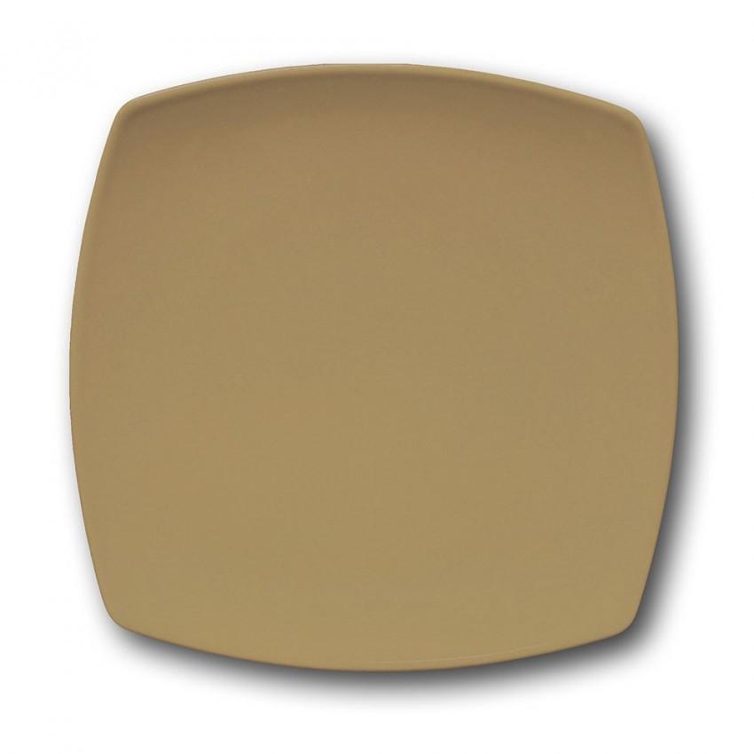 Assiette plate carrée couleur Marron - L 26 cm - Tokio
