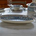 Plat ovale Bakir turquoise - L 53 cm