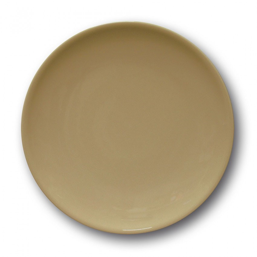 Lot de 6 assiettes à entrée et à dessert couleur Marron - D 21 cm - Siviglia