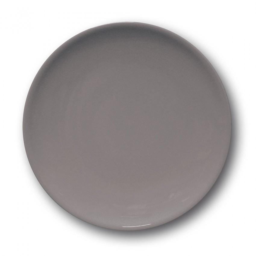 Lot de 6 assiettes à entrée et à dessert Gris - D 21 cm - Siviglia