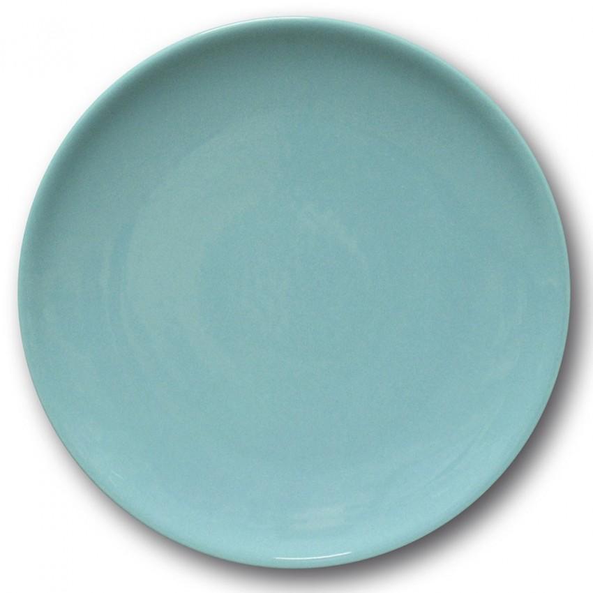 Assiette plate porcelaine Bleu- D 26 cm - Siviglia
