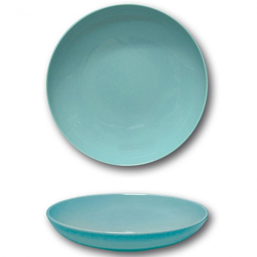 Lot 6 assiettes creuses porcelaine Bleue - D 22 cm - Siviglia