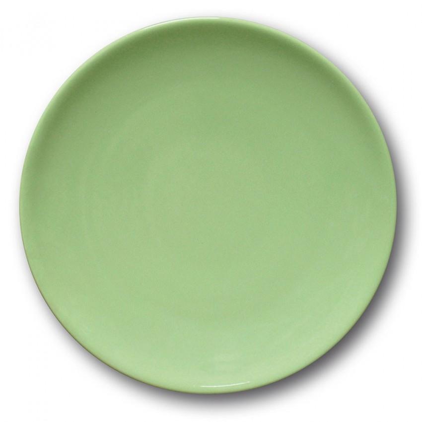 Lot de 6 assiettes plates porcelaine Vert - D 26 cm - Siviglia
